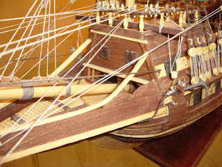 wooden scale model of the spanish gallion San Mateo