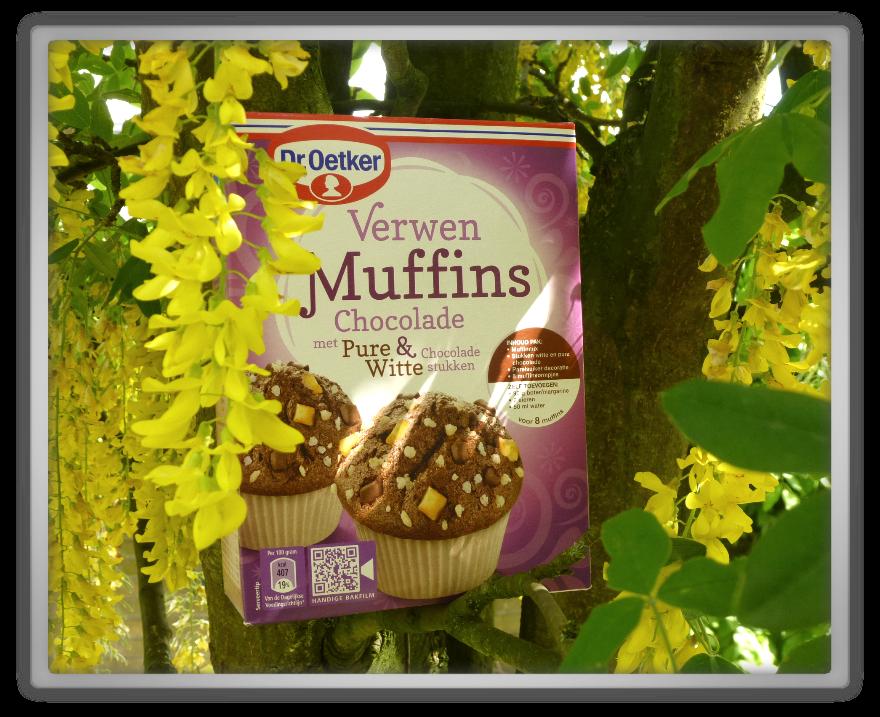 Baking homemade muffins Dr oetker verwen muffins Chocolade chocolate Laburnum anagyroides spring summer