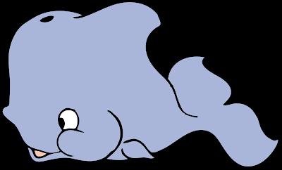 Desenho de baleia colorido