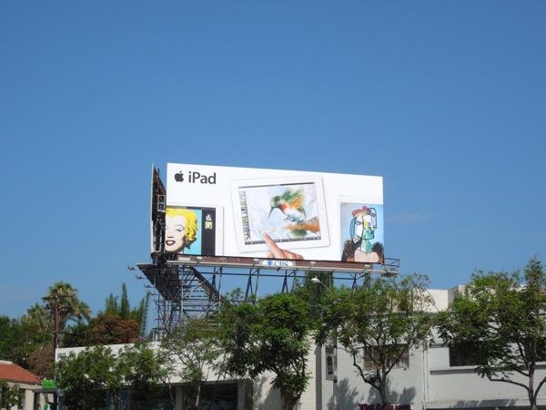 Apple iPad art billboard