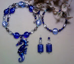 Sea Horse Colbalt Blue Jewelry Set