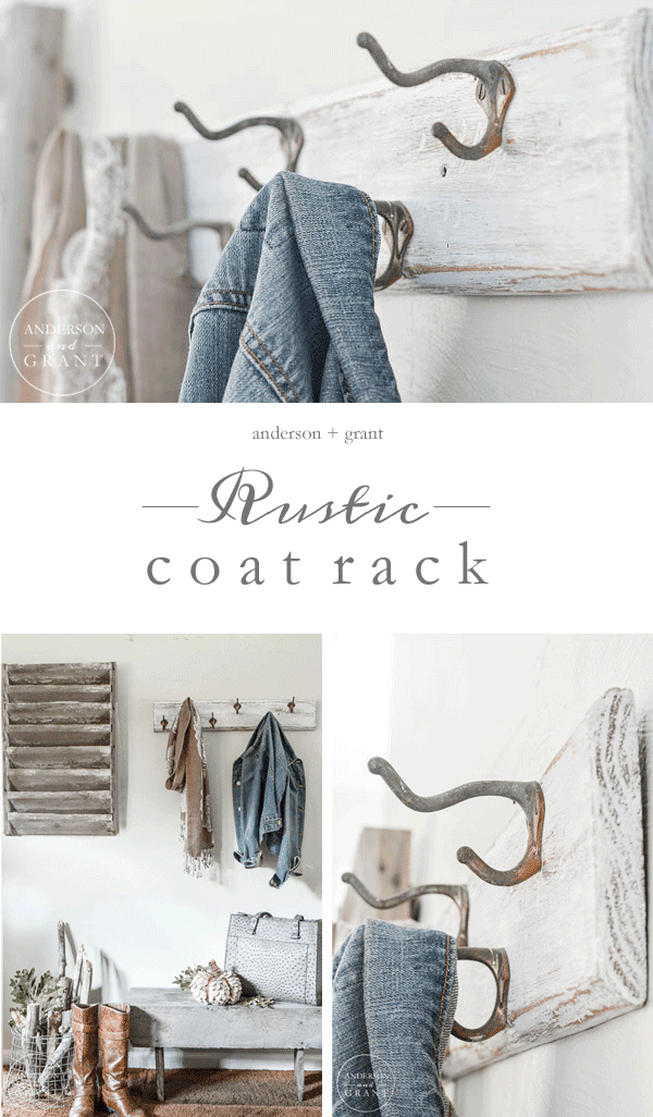 Check out this tutorial for creating a rustic coat rack from a vintage find.  ||  www.andersonandgrant.com