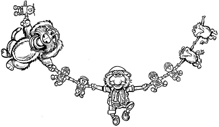 fragle rock coloring pages - photo#30