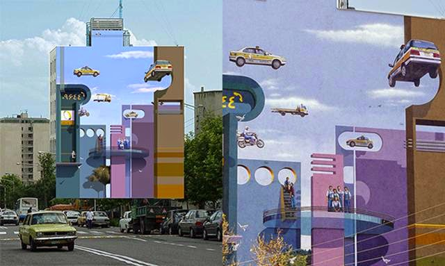 Murals, Optical Illusions and the work of Mehdi Ghadyanloo