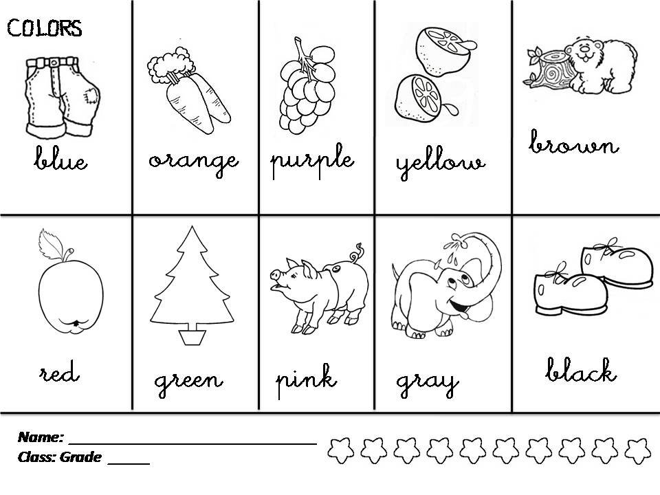 Enjoy Teaching English Colors Shapes Colors Coloring Pages
