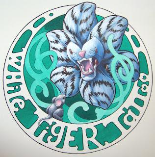 White Tiger Tattoo sticker design