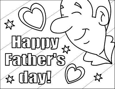 Happy Father's Day Kid Coloring Pages