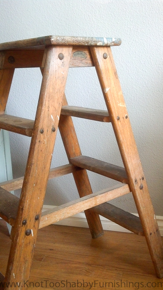 The wood ladder and strings music knot too shabby for Old wooden ladder projects