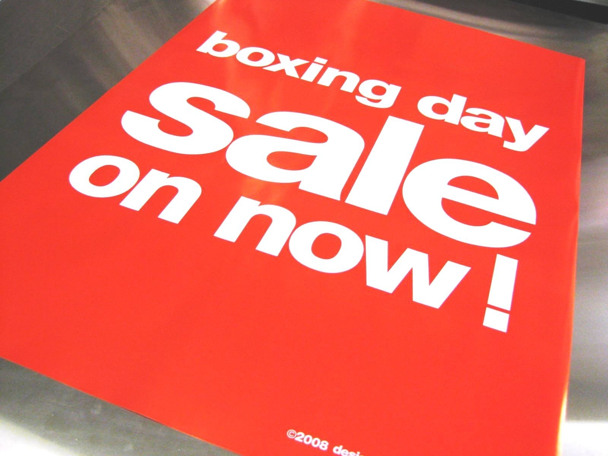 BOXING DAY SALE ON NOW