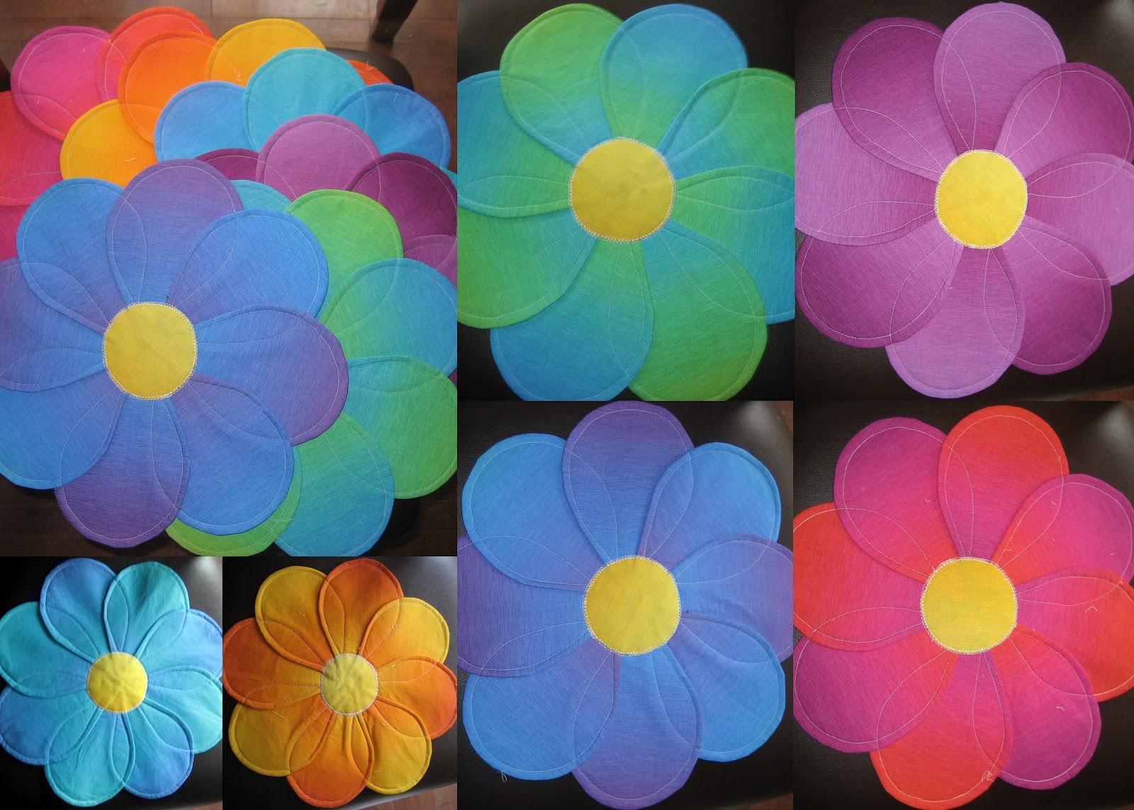 Flower petal place mats fabbric crafts - Crafts with flower petals ...