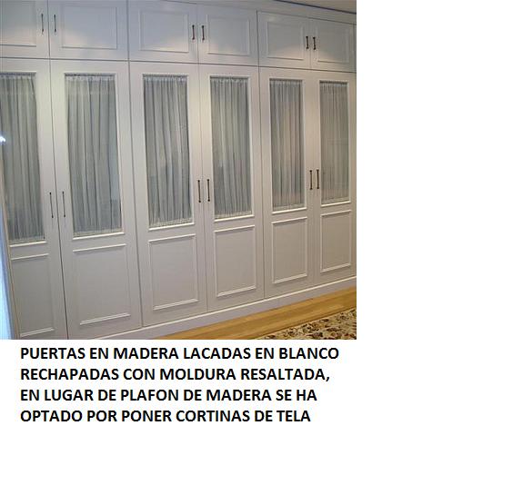 Made of wood frentes de armarios correderos o practicables for Cristales para puertas de madera precios
