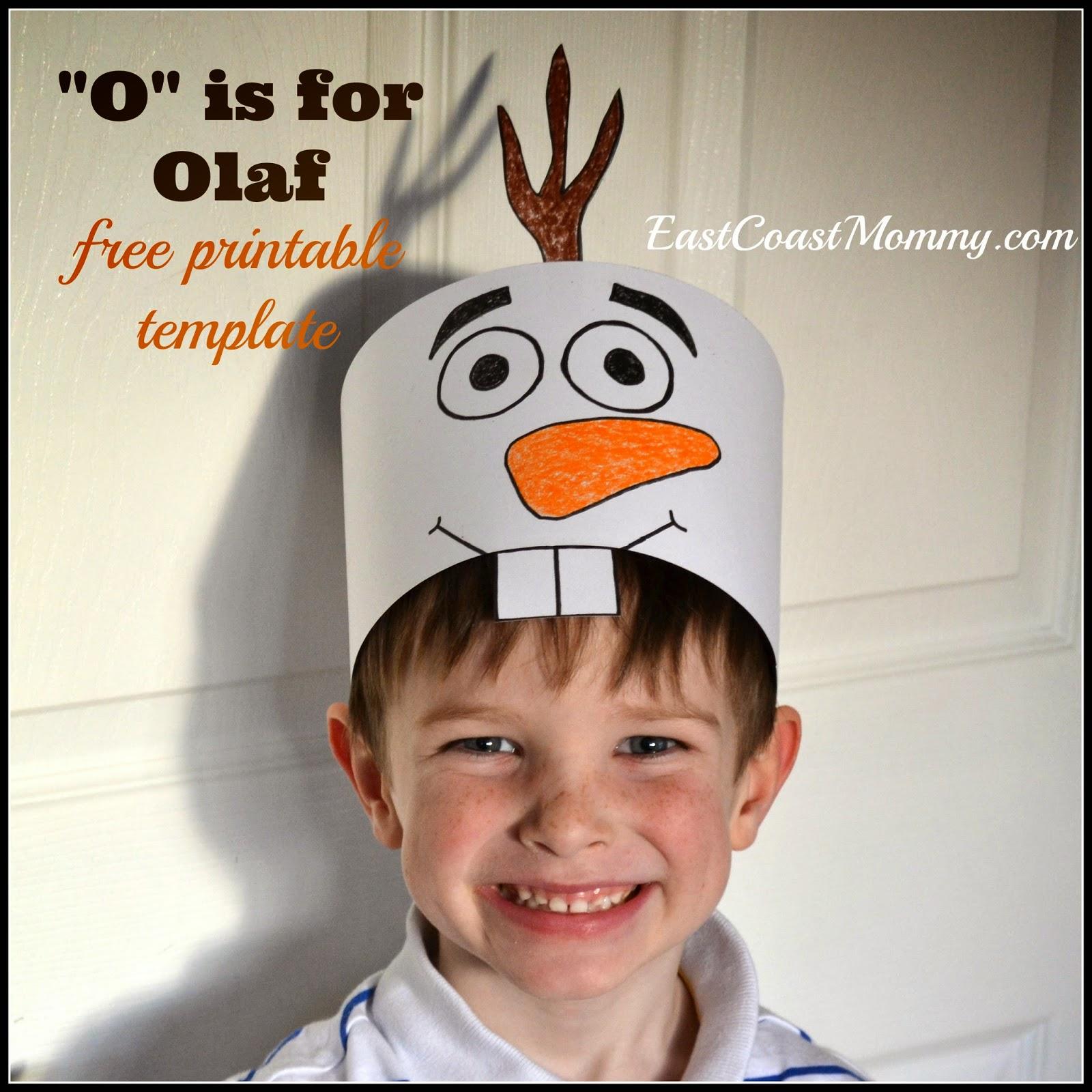 East Coast Mommy Olaf Hat Free Printable Template