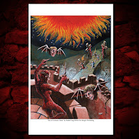 'Sky ov Crimson Flame' Limited Lithograph