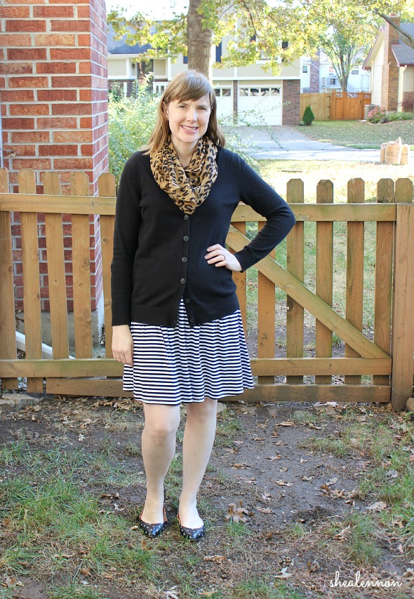 striped skirt with leopard and polka dots | www.shealennon.com