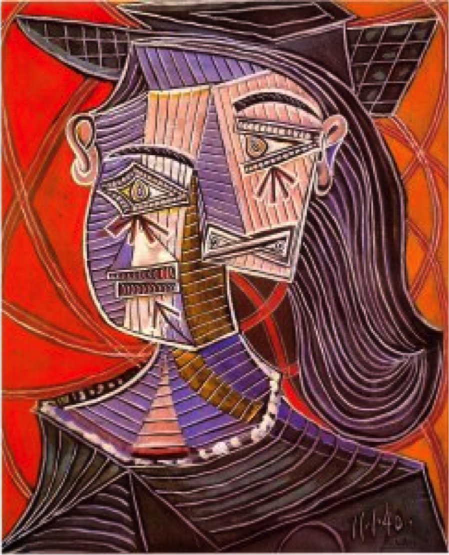 Picasso Cubist Faces Here are some of picasso's