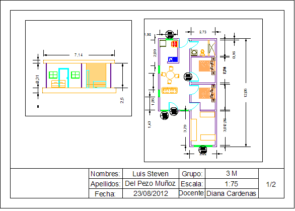 Ingenieria civil autocad 2010 for Planos ingenieria civil