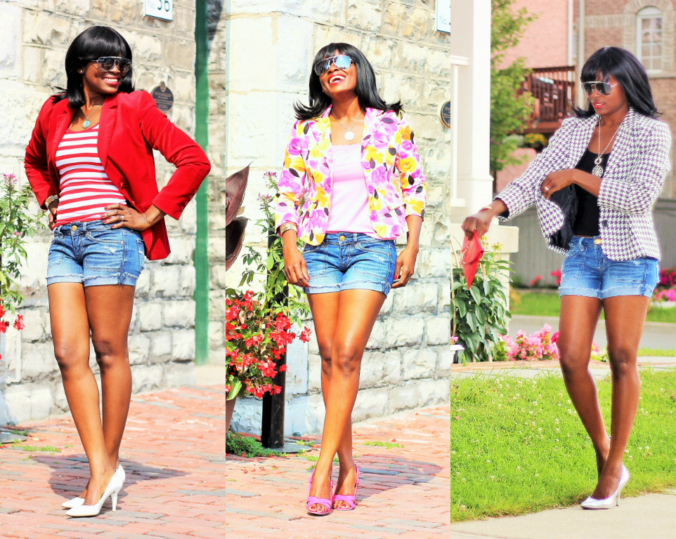 3 Ultra Chic Ways: Blazers and 1 Denim Shorts
