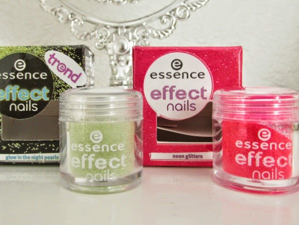 essence effect nails glow in the night pearls und pop´n pink neon glitters Neuheiten Herbst 2014