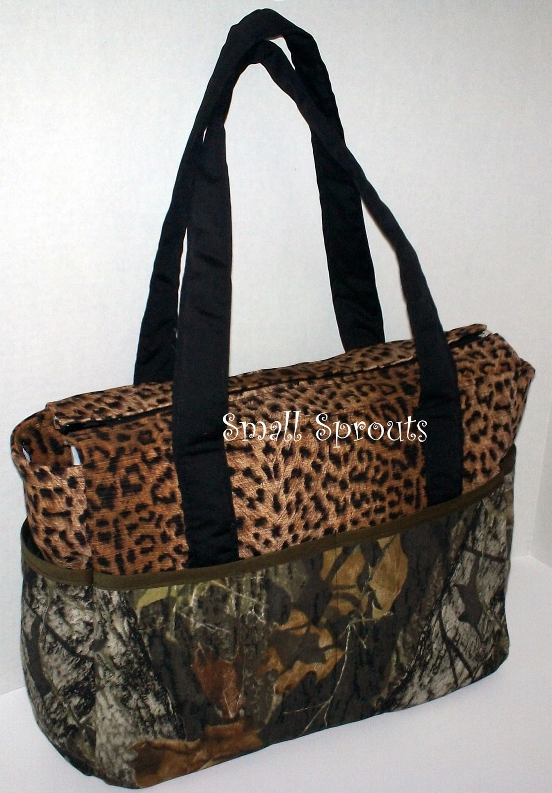Small Sprouts: Small Sprouts Cool Camo Cheetah Fancy Diaper Bag