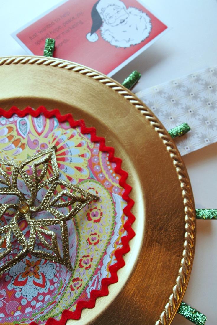 Holiday Christmas Card Holder Display