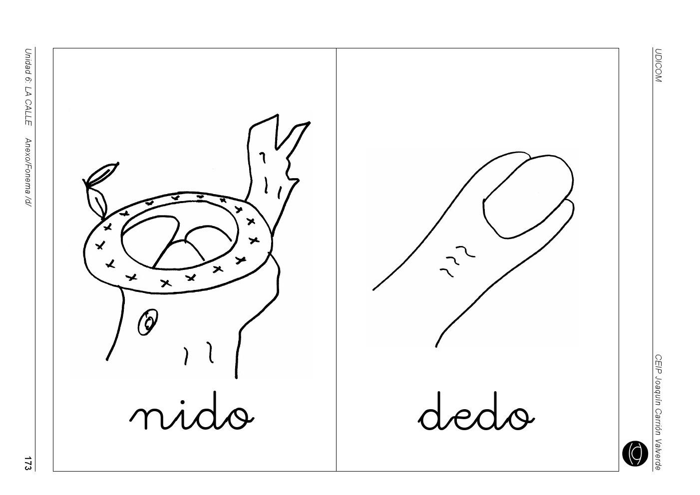 dibujos para colorear que empiecen con la letra d