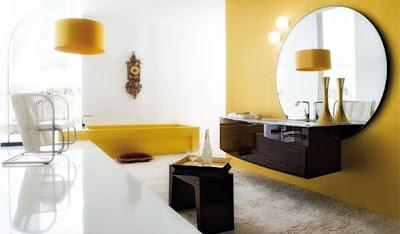 baño color amarillo