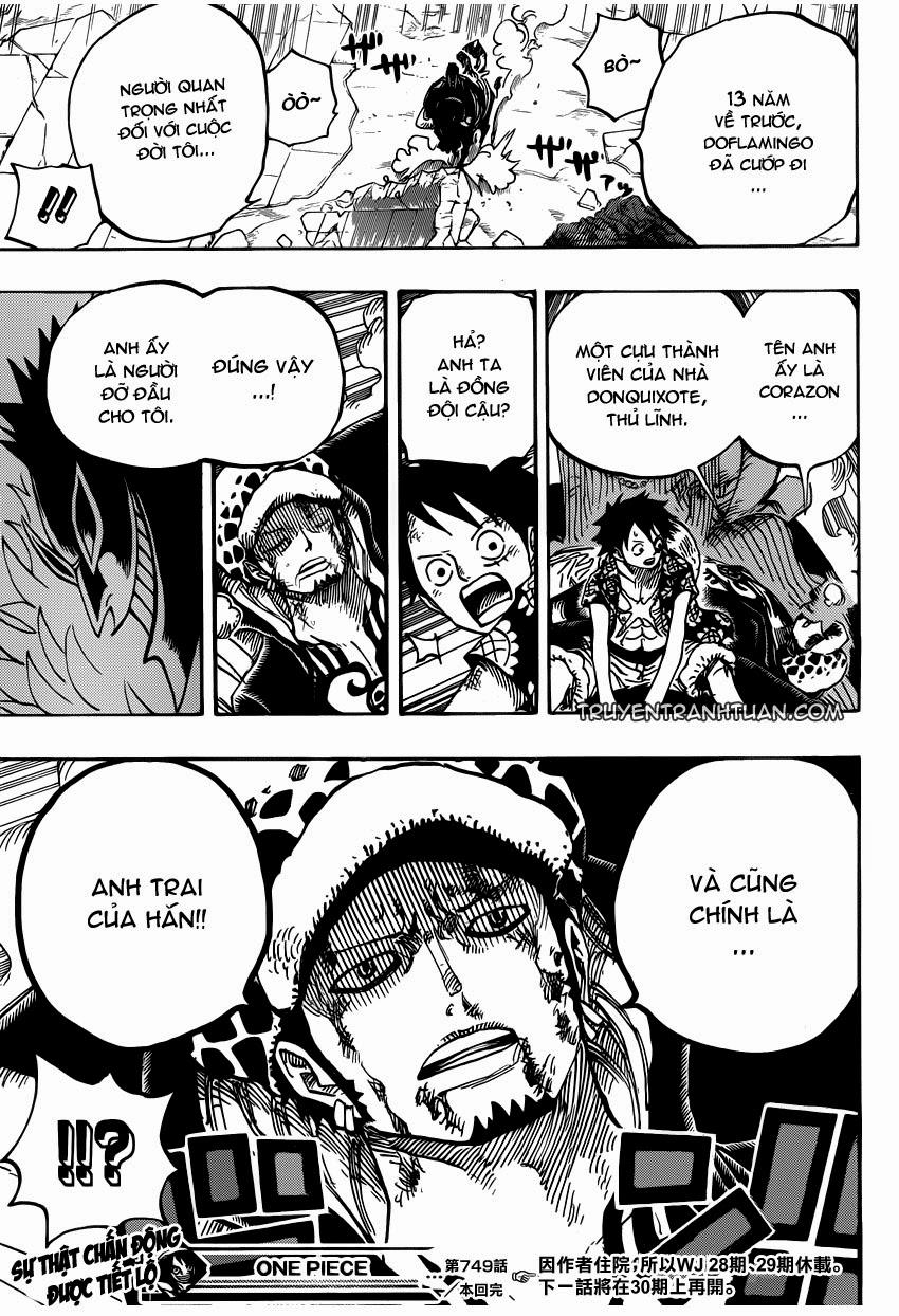 one piece truyentranhtuan com chap 749 trang 015, One Piece chap 749   NarutoSub