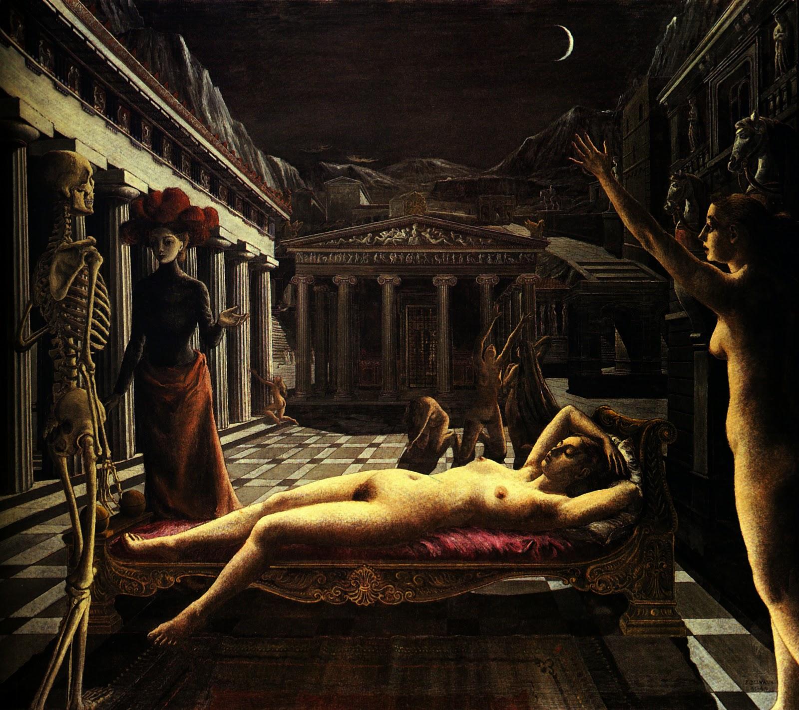 La Venus Endormie (Paul Delvaux, 1944)