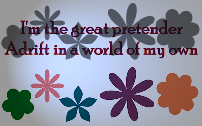 The Great Pretender - The Platters Song Lyric Quote in Text Image