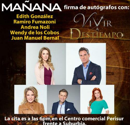 "de la telenovela ""Vivir a Destiempo"" de Fides Velasco y Eric Vonn"
