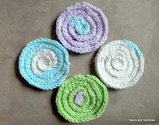 Swirls and Sprinkles: Free crochet facial cleansing pad pattern
