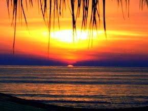 Couche de soleil sur long beach