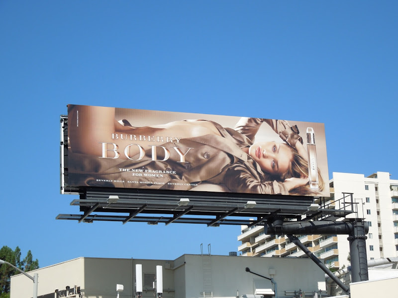 Burberry Body fragrance billboard