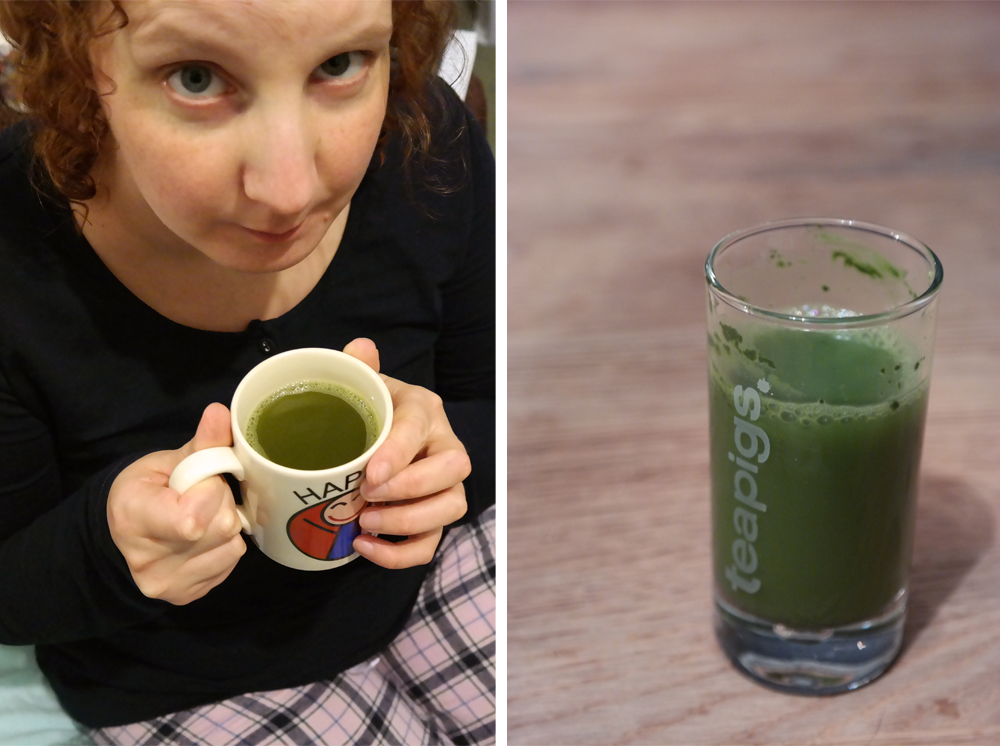 About to try Matcha tea / shot of Matcha