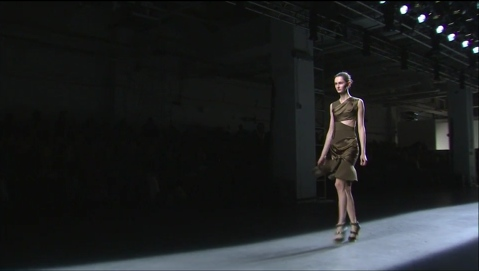 Olive cut dress at Prabal Gurung Fall 2013 Collection
