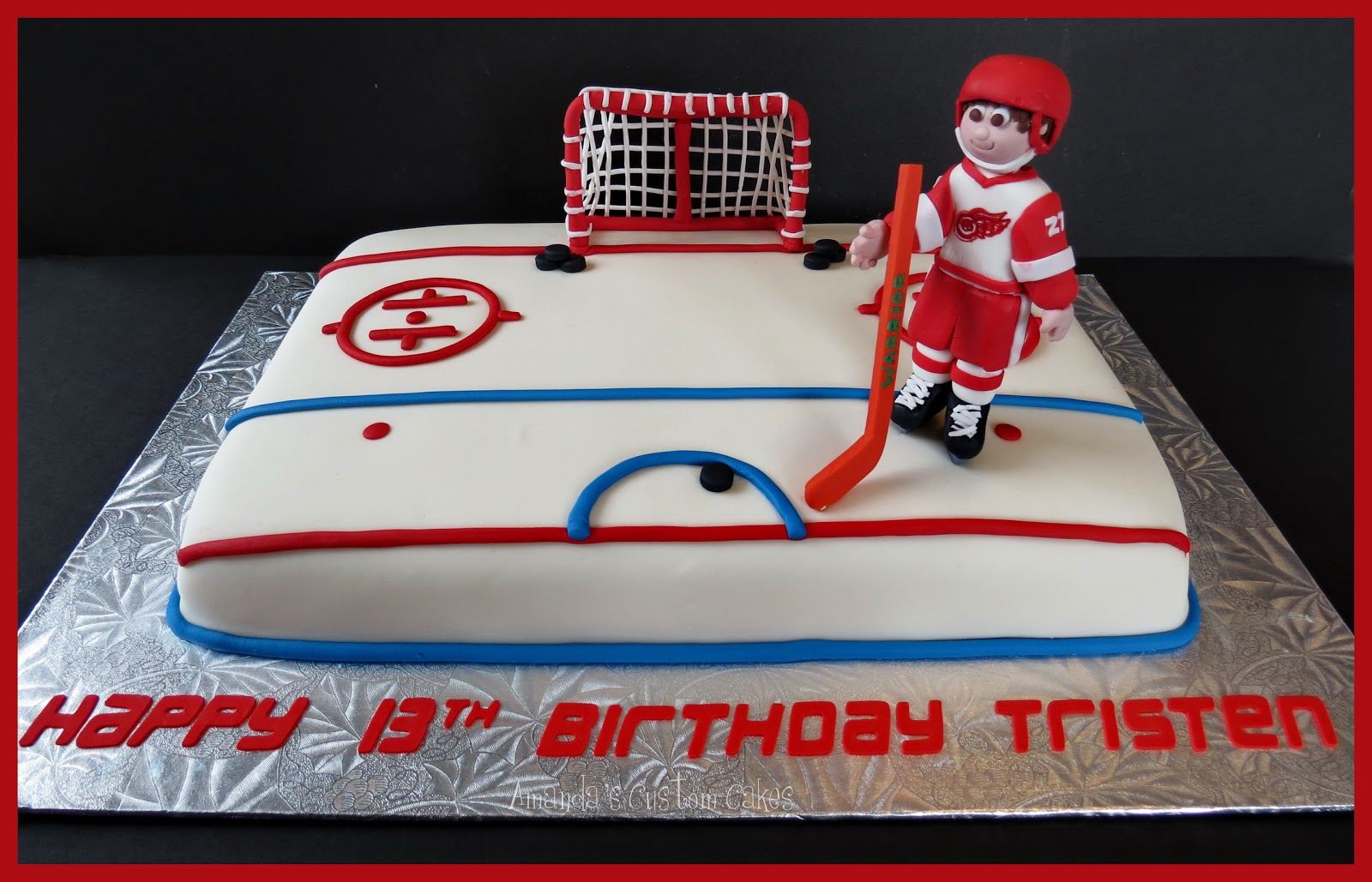 Hockey Birthday Cake Toppers Canada