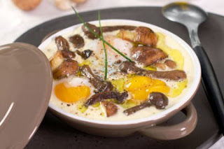 Cassolettes d'œufs aux champignons