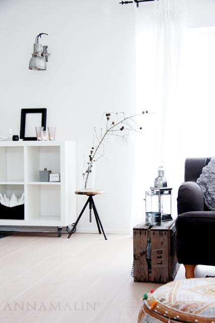 decoracion balnca salon escandinavo e industrial