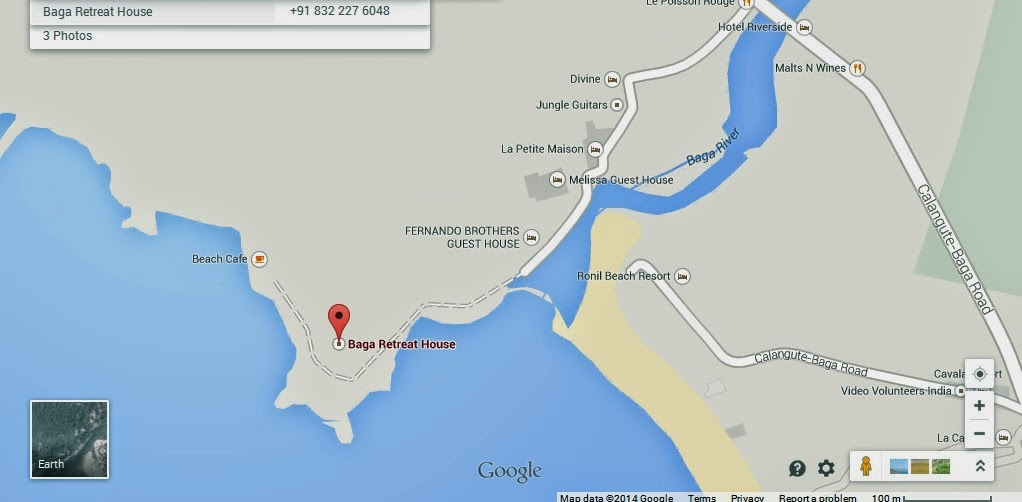 Baga India  City new picture : India Location Map,Location Map of Baga Retreat House Goa India,Baga ...