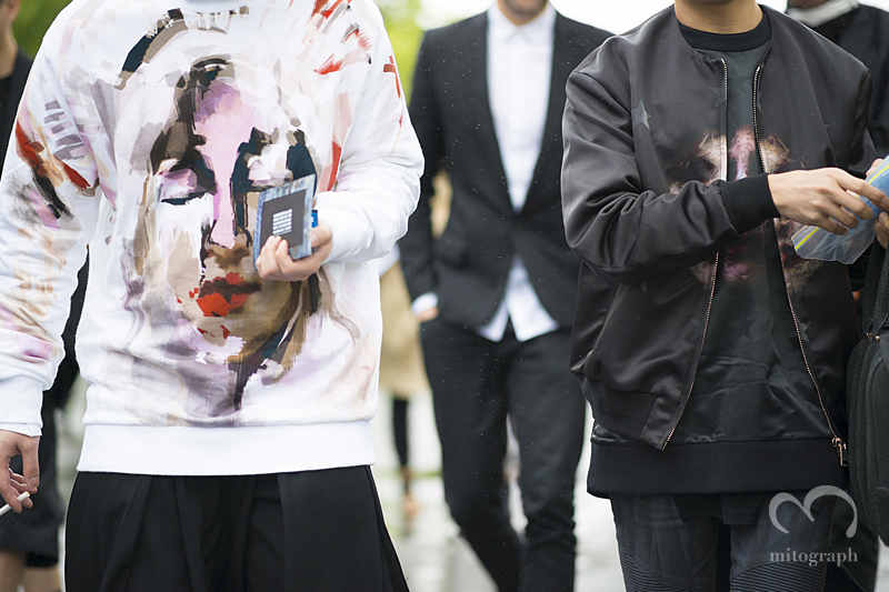 mitograph men wearing Givenchy After Ann Demeulemeester Paris Mens Fashion Week 2014 Spring Summer PFW Street Style Shimpei Mito