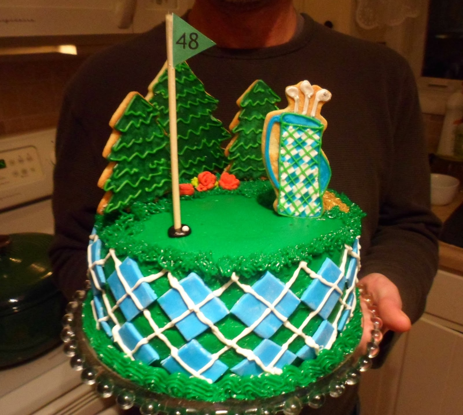 the enchanted oven Golf birthday cake and cookies