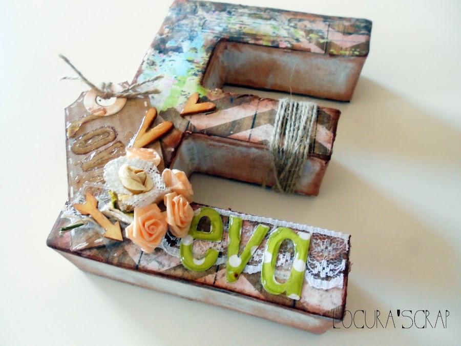 Letras de carton decoradas - Letras decoradas scrap ...