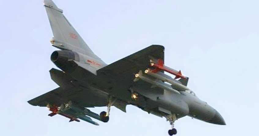 Armed and Dangerous: J-10B fighter jet With 6x Air To Air ...