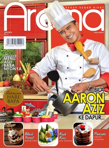 aaron aziz jadi cover majalah aroma