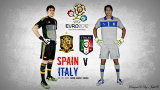 Hasil Skor Spanyol Vs Italia Euro 2012