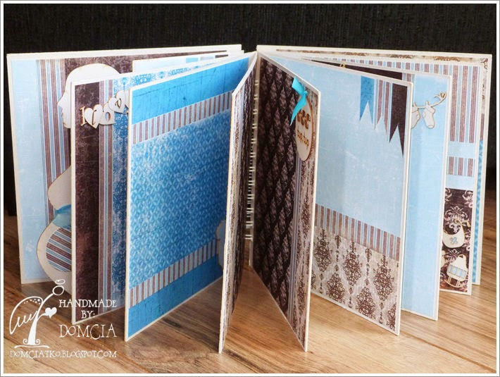 album niebieski, album brązowy, scrapbooking, sklepy cynamonowe