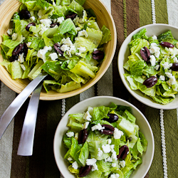 for Mediterranean Salad with Hummus Dressing, Olives, Capers, and Feta ...