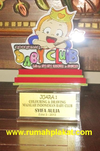 Indonesian Baby Club, Pusat Cetak Piala Baby Photocontest, Format Teks Trophy Kejuaraan Bayi, 0812.3365.6355, www.rumahplakat.com