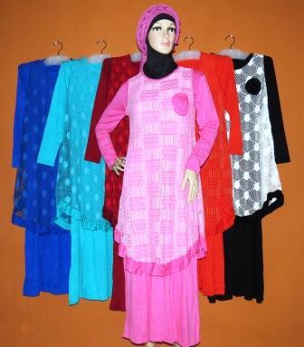 Gamis Rompi Cantik Gkm4544 Grosir Baju Muslim Murah