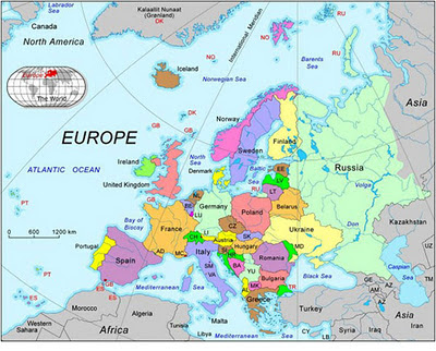 Political Maps of Europe (1)